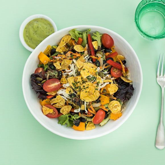 Vegetarian Plantain Taco Salad