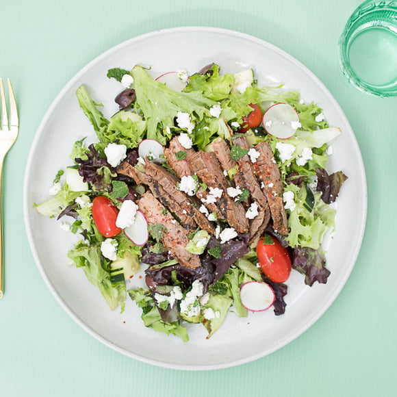 Greek Salad with Steak