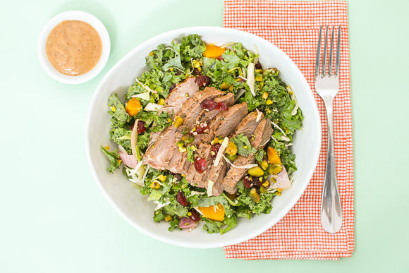 Kale, Cherry and Steak Salad