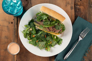 Grilled Pork Banh Mi Sandwich with Spicy Mayo