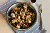Chicken, Brussel Sprouts and Wild Rice Salad with Pomegranate Molasses