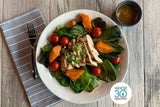 Whole30 Approved Chipotle Chicken Salad with Cherry Tomatoes and Chipotle Dressing