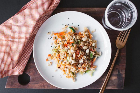 Vegetarian Indonesian Brown Rice Salad