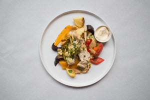 Moroccan Spiced Chicken with Grilled Veggies