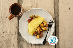 Squash Omelette with Potato Hash