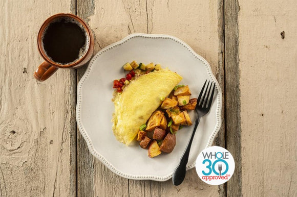 Whole30 Approved Squash Omelette with Potato Hash