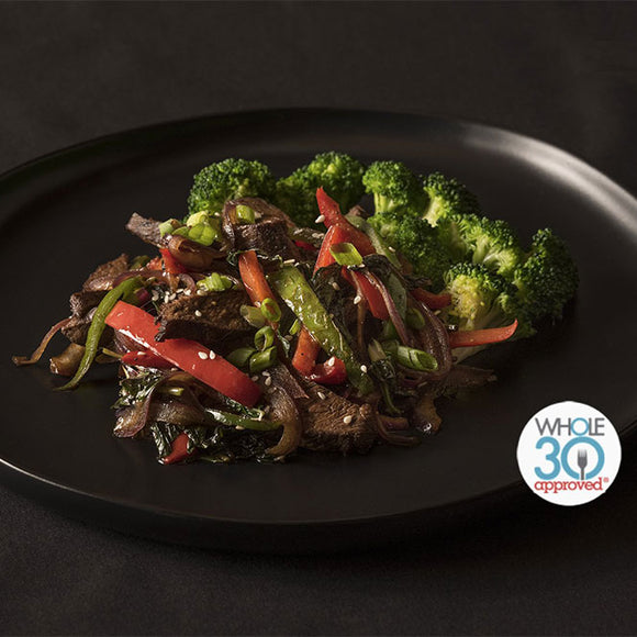 Whole30 Approved Pepper Steak with Broccoli