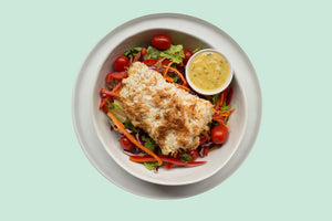 Coconut Crusted Cod Salad