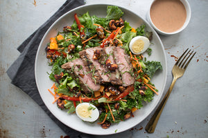 Lemongrass Steak Salad with Chili Lime Cashews