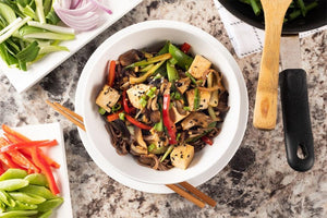 Vegetarian Tofu Stir Fry with Soba Noodles