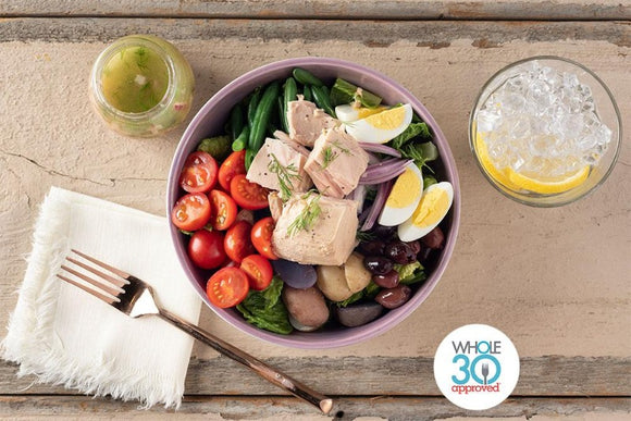 Whole30 Approved Tuna Nicoise Salad with Lemon Vinaigrette