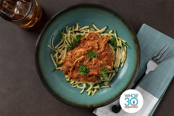 Whole30 Approved Turkey Bolognese with Zucchini Noodles