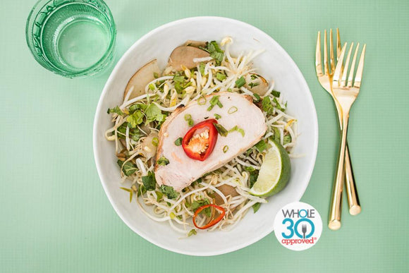 Vietnamese Style Pork Loin with Herb Salad