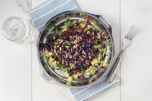 Vegetarian Brussel Sprouts and Wild Rice Salad with Pomegranate Molasses
