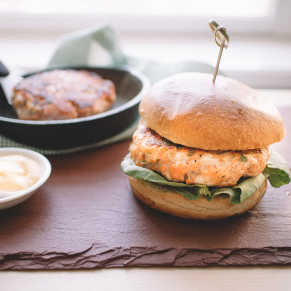 Salmon Burger with Zucchini