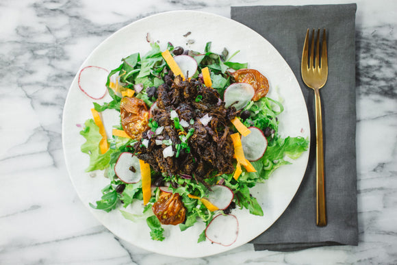 BBQ Beef Salad with Avocado Ranch