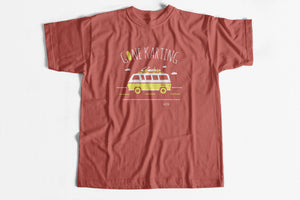 Gone Karting tee in Heather Clay color
