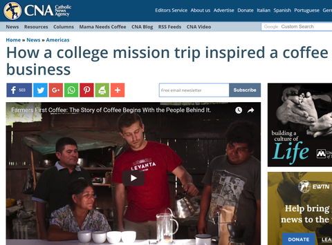 How a college mission trip inspired a coffee business