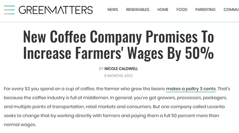 New Coffee Company Promises To Increase Farmers' Wages By 50%