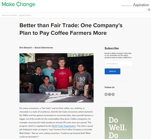 Better than Fair Trade: One Company's Plan to Pay Coffee Farmers More
