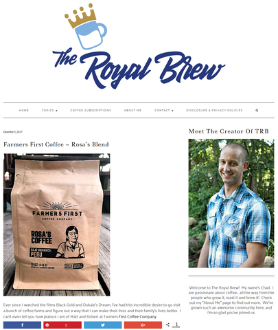 Farmers First Coffee – Rosa's Blend