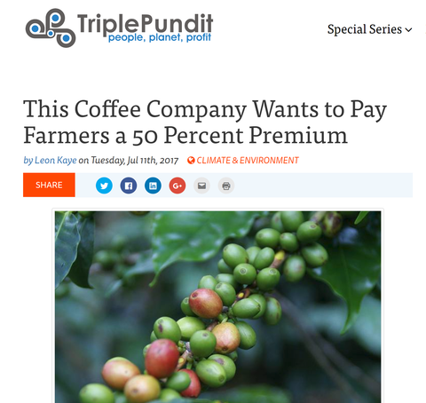 This Coffee Company Wants to Pay Farmers a 50 Percent Premium