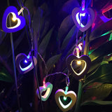 Wooden Heart LED String Lights - ChristmaShop