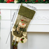 Gorgeous Santa Claus and Snowman Christmas Stockings - ChristmaShop