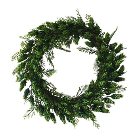 Christmas Garland Wreath with Grapevine - ChristmaShop