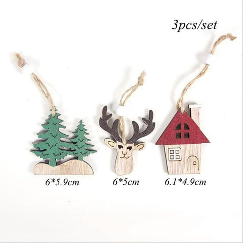 Rustic Wooden Christmas Tree Pendants - ChristmaShop