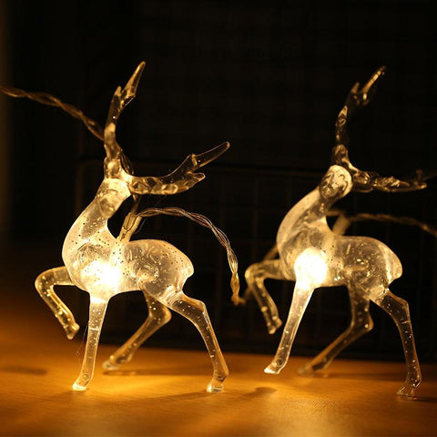 Stunning Transparent Sika Deer String Lights - ChristmaShop