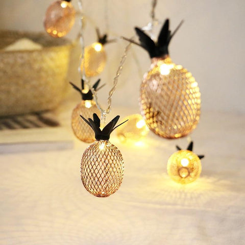 Unique Pineapple LED Fairy String Lights - ChristmaShop