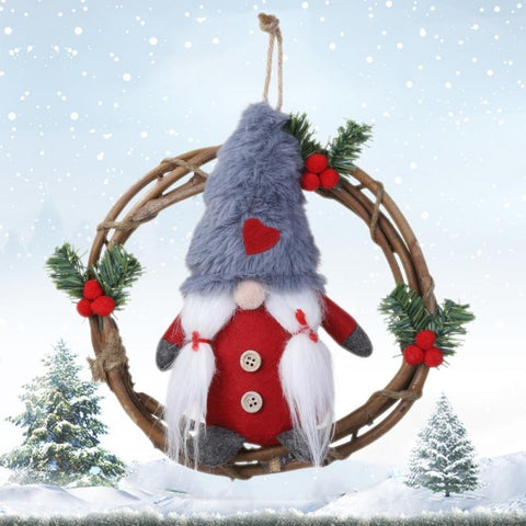 Christmas Gnome Wreath With Swedish Santa - ChristmaShop