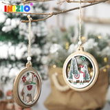Alpaca Christmas Tree Wooden Ornaments - ChristmaShop