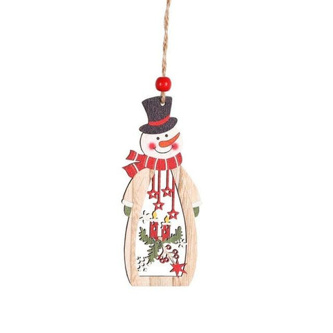 1 Set of Wooden Christmas Ornaments - ChristmaShop