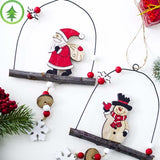 Santa and Snowman Lantern Shaped Pendants - ChristmaShop