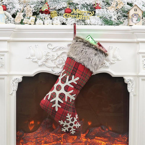 Tailored Plaid Christmas Stocking - ChristmaShop