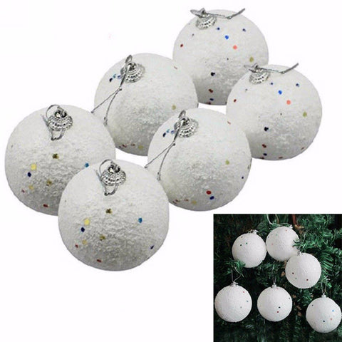 White Snowball Ball Christmas Ornaments - ChristmaShop