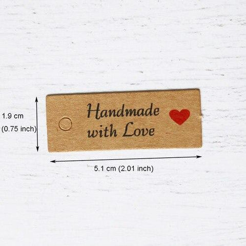 Handmade with Love Paper Tags - ChristmaShop