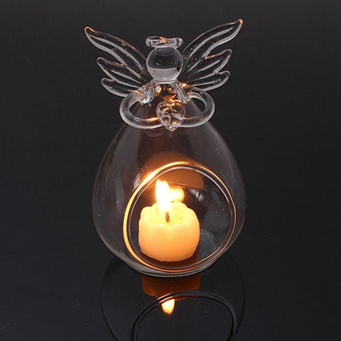 1Pcs Angel Hanging Tealight Holder Glass for Christmas Decoration - ChristmaShop