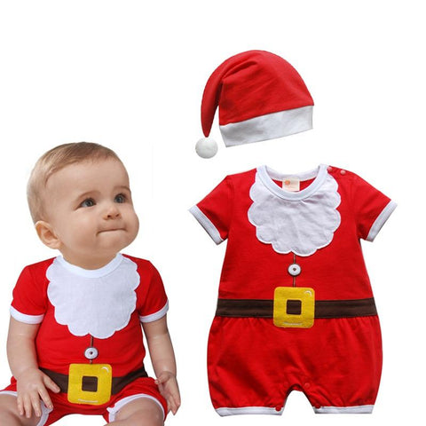 Red Christmas Jumpsuits & Hats -9-24 months - ChristmaShop