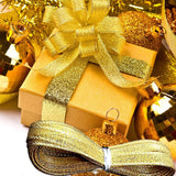 Polyester Gold and Silver Ribbon - ChristmaShop