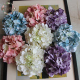 1PCS Gorgeous DIY Artificial Carola Hydrangea Heads Bouquet - ChristmaShop