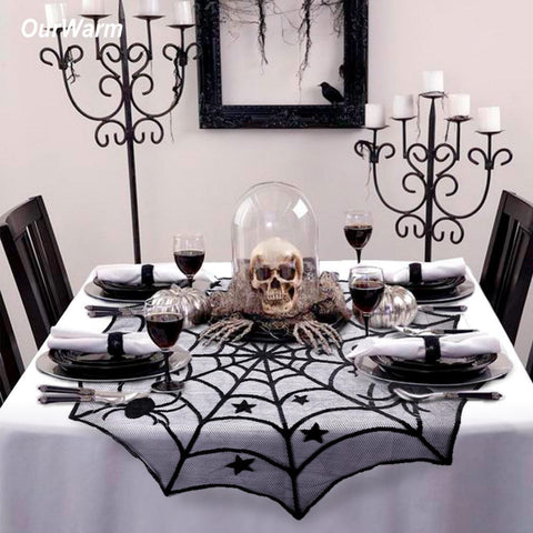 Ourwarm Halloween Party Decoration Spiderweb Table Cloth - ChristmaShop