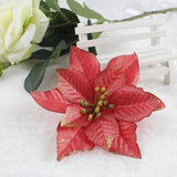 50pcs Christmas Tree Ornaments Artificial Flower 15cm - ChristmaShop