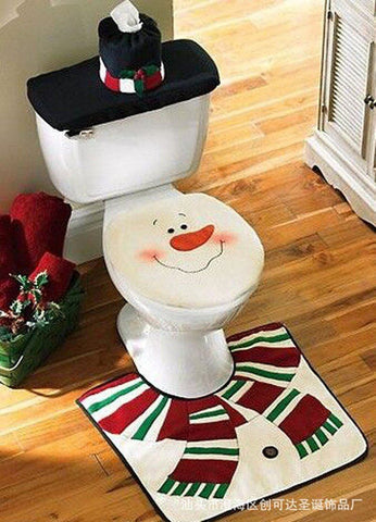 Christmas Snowman Bathroom Set - ChristmaShop