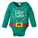 Newborn Boy Letter Print Romper, Long Sleeve Christmas Jumpsuit - ChristmaShop
