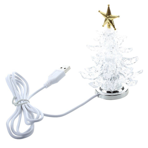 HOT USB Powered Miniature Christmas Tree With LED - ChristmaShop