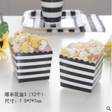 Creative Black Striped Disposable Tableware Party - ChristmaShop