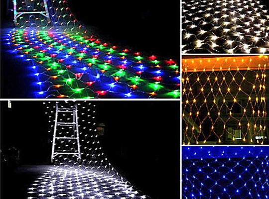 3m x 2m 200 LED Net Mesh String Light for Christmas in Outdoor Decoration - ChristmaShop